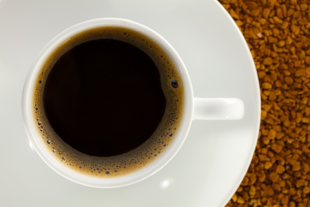 granula: A cup full of coffee, on the basis of instant coffee  Stock Photo