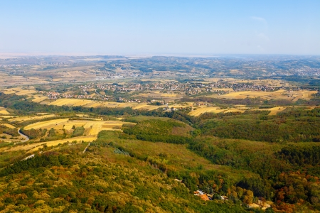 The view from the top of the tower on the green areas of Serbia  photo