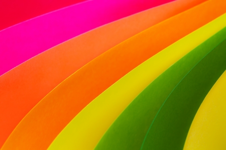 colored paper: Abstract framed, arched colorful paper