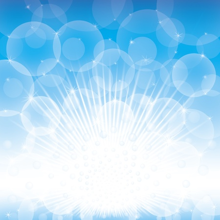 positive energy: An explosion of blue light and positive energy