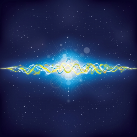 oscillation: Oscillating waves of deep space, full of star systems.