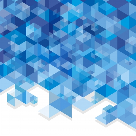 building activity: Blue abstraction, composed of blue bricks, different shades. Illustration