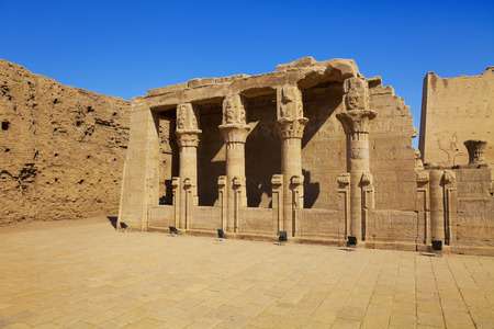 ancient egyptian civilization: temple of Edfu Stock Photo