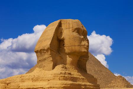 giza: The head of the sphinx Stock Photo