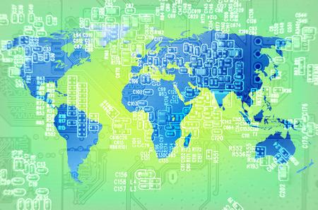 techno: digital techno world Stock Photo