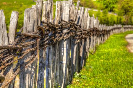 old fence: HDR IMAGE Old fence