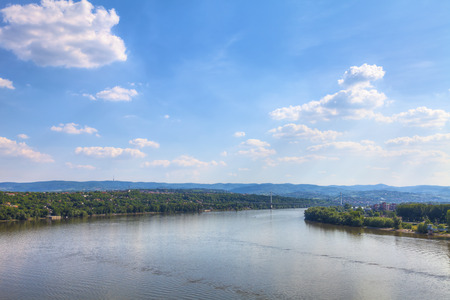 View of the Danube and Fruska Gora from Petrovaradin, HDR Image.