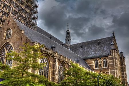 rotterdam: Grote of St Laurenskerk, lateral part, city landmark, Rotterdam, Netherlands, HDR Image. Stock Photo