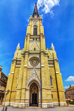 The Name of Mary Church and blue sky, Novi Sad, Srbija, HDR Image.