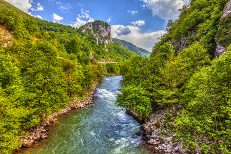 River Lim from the bridge, in the vicinity of the Kumanica monastery, HDR Image.