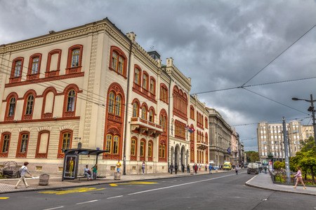 SERBIA, BELGRADE - SEPTEMBER 12: Building of the university rectorate on September 12, 2017 in Belgrade. The building is the endowment of Misa Anastasijevic. HDR Image.