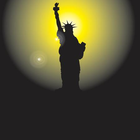 Statue of Liberty - vector illustration