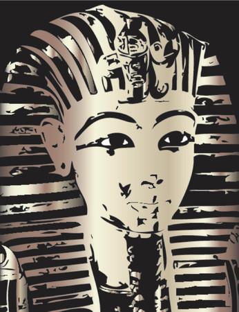 Tuatankhamun mask - vector illustration