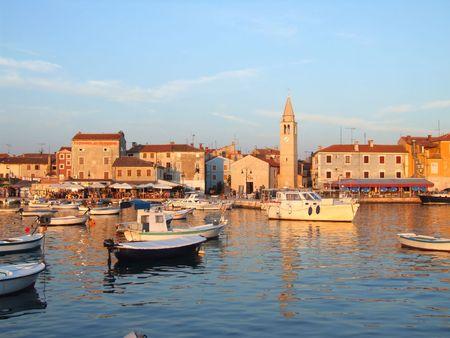 Istrian town of Fazana Stock Photo