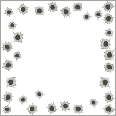 Bullet hole background - vector illustration