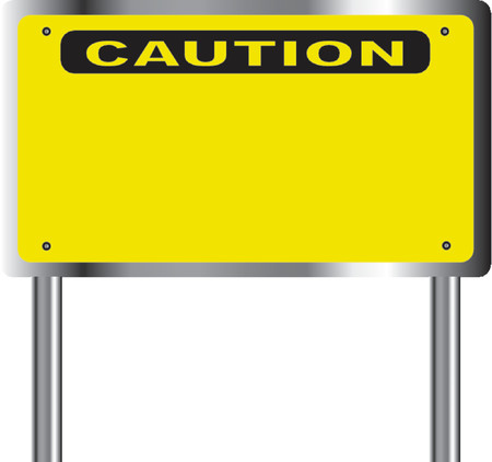 Caution sign with place for your text - vector illustration