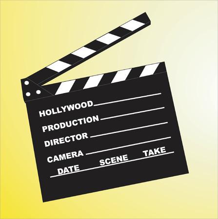Clapboard - vector illustration