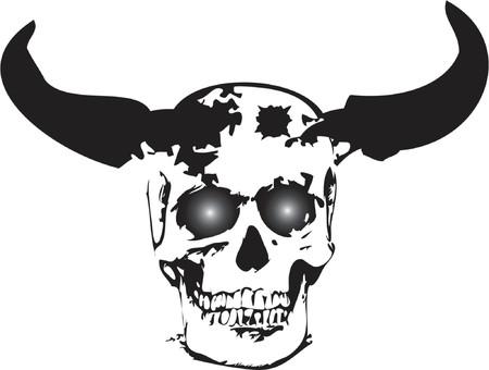 Monster skull - vector illustration