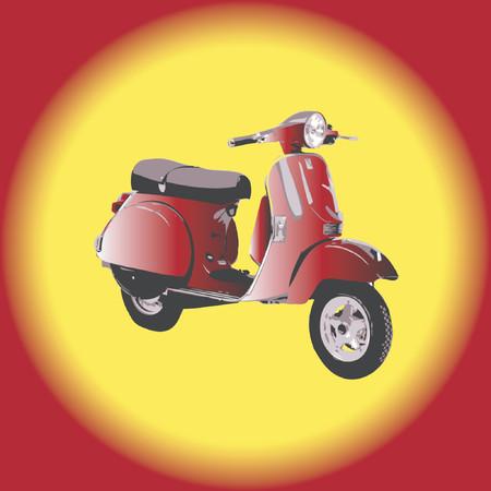 Scooter - vector illustration Illustration