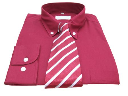 Shirt and tie with clipping path