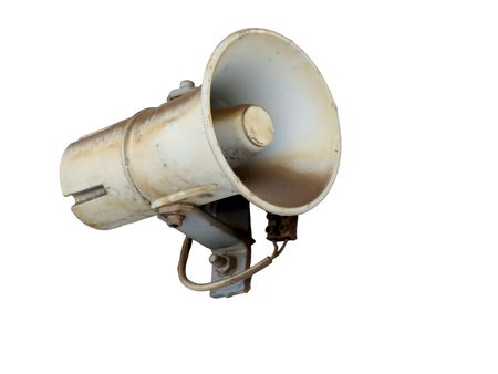 Old wall speaker with clipping path Stock Photo