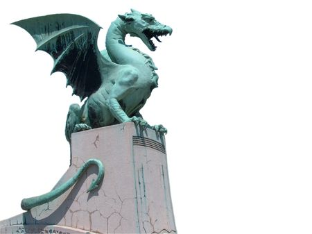Dragon with clipping path