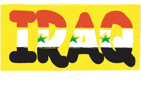problematic: Iraq - vector illustration