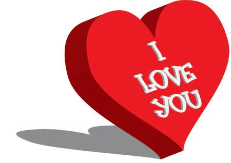 corny: I love you - vector illustration Illustration