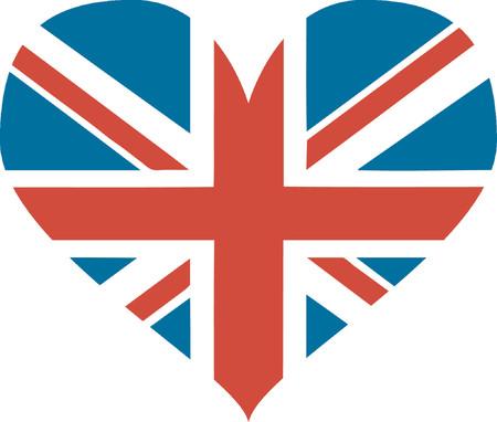Great Britain heart - vector illustration Illustration