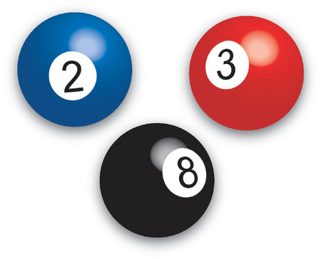 Pool balls - vector illustration Illustration