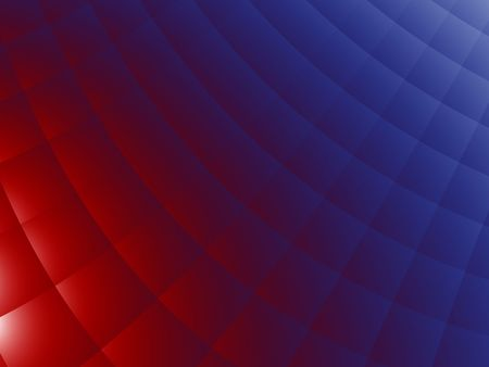 bedcover: Red and blue bedcover - abstract background