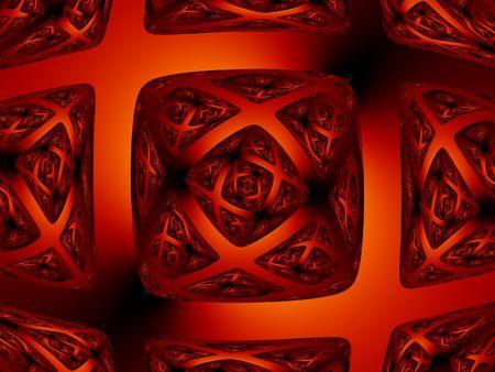Dark fiery red diamond shape background - abstract illustration