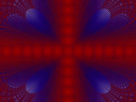 lacework: Red & blue lacework background - fractal illustration