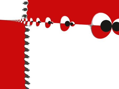 Red & white & black background - abstract digital illustration Stock Photo