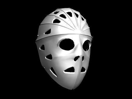 dreadful: Hockey goalkeepers mask - digital illustration