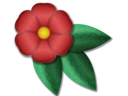 fictitious: Digital floral design - imaginary illustration Stock Photo
