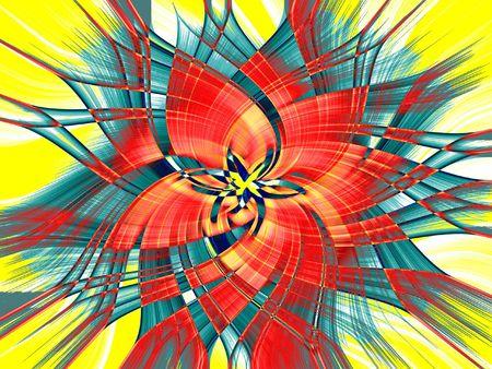 Explosion of bright colors - digital illustration Stock Photo