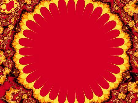 Red explosion ornament - fractal illustration