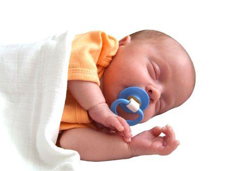Little baby infant sleeping  Stock Photo