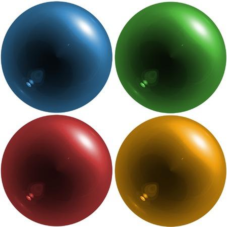orbs: Colorful translucent orbs - digital illustration Stock Photo