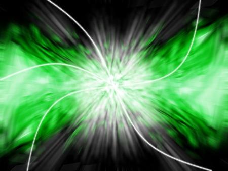 Abstract explosion in green - digital illustration