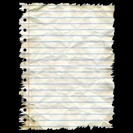 Sheet of crumpled paper - digital illustration