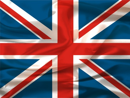 Wavy (Silky) Union Jack - digital illustration Stock Photo