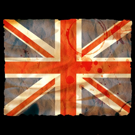 Old burned paper Union Jack - digital illustration Stock Illustration - 1727340