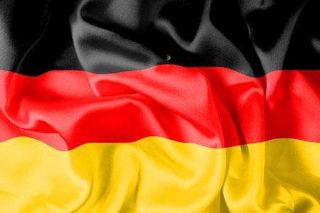 black flag: German flag - digital illustration Stock Photo