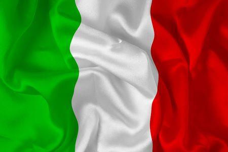Italian flag - digital illustration