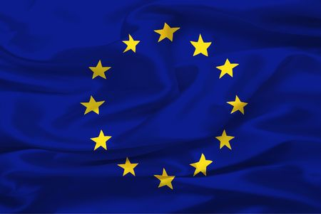 Flag of European Union (United States of Europe) - digital illustration illustration
