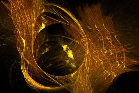 Abstract golden brown background - digital illustration Stock Photo