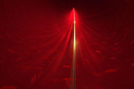 Abstract Golden Red Christmas tree - digital illustration