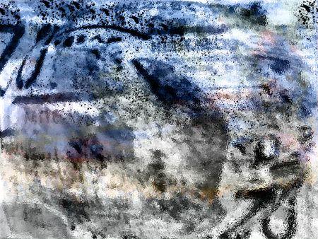 Grunge dirty chaos - digital illustration